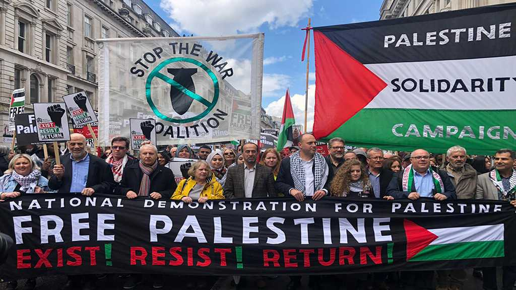 Massive Free Palestine March led by Ahed Tamimi in London