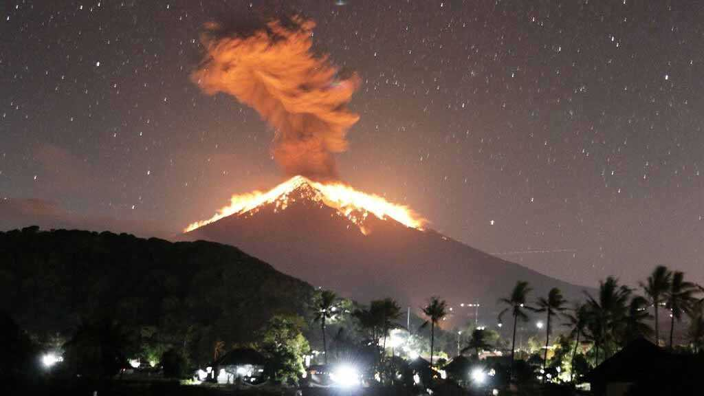 Volcano Agung Erupts on Indonesia's Bali Island