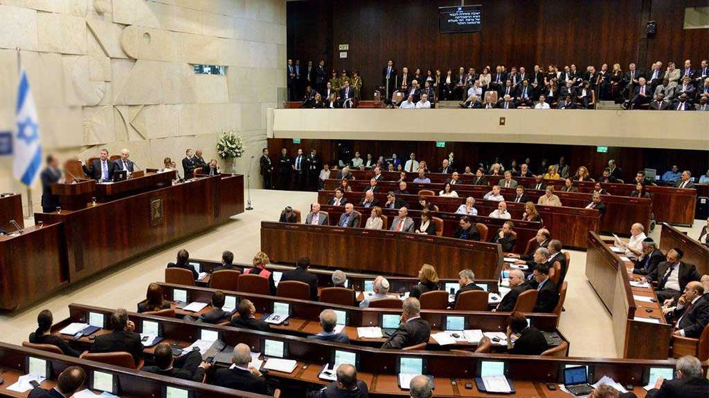 Bill to Disperse «Israeli» Knesset Passed in Preliminary Reading