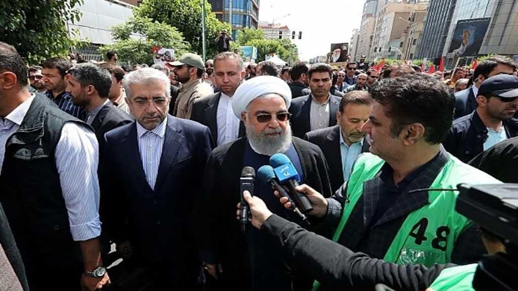 Rouhani: Hegemonic Plots against Al-Quds, Palestine to Go Nowhere