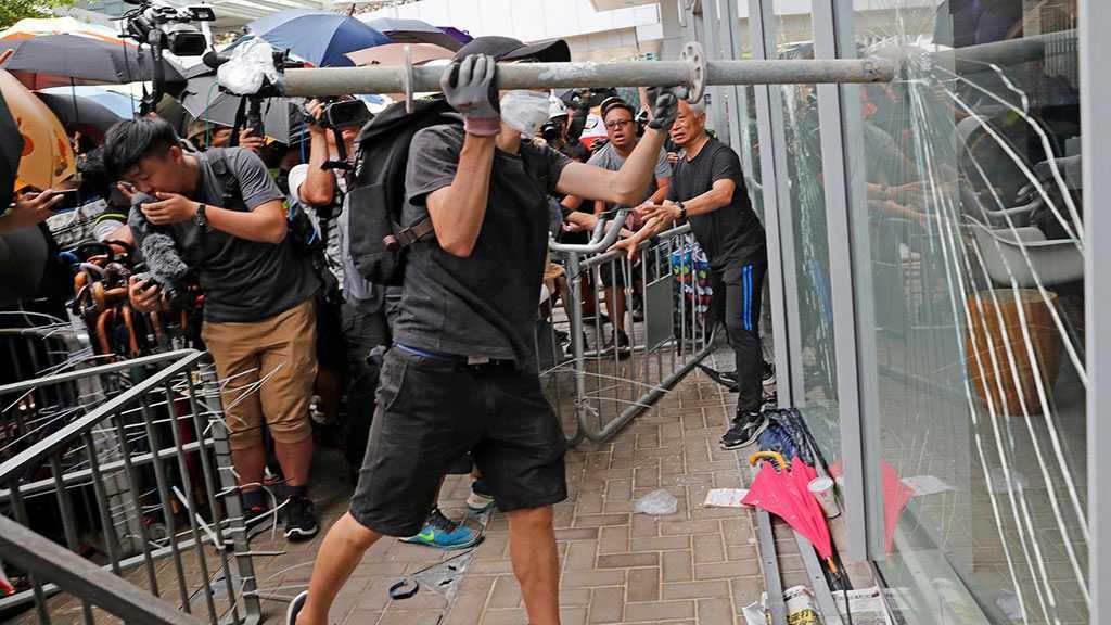 China: Protesters Try To Smash Way Into Hong Kong Legislative Council