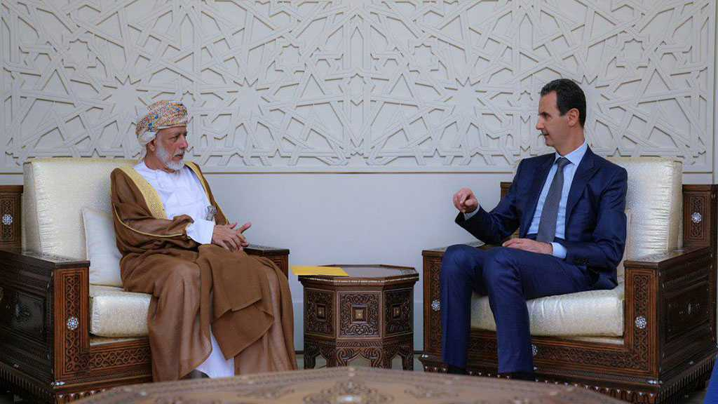 Oman's Foreign Minister Meets Bashar Al-Assad during Rare Syria Visit