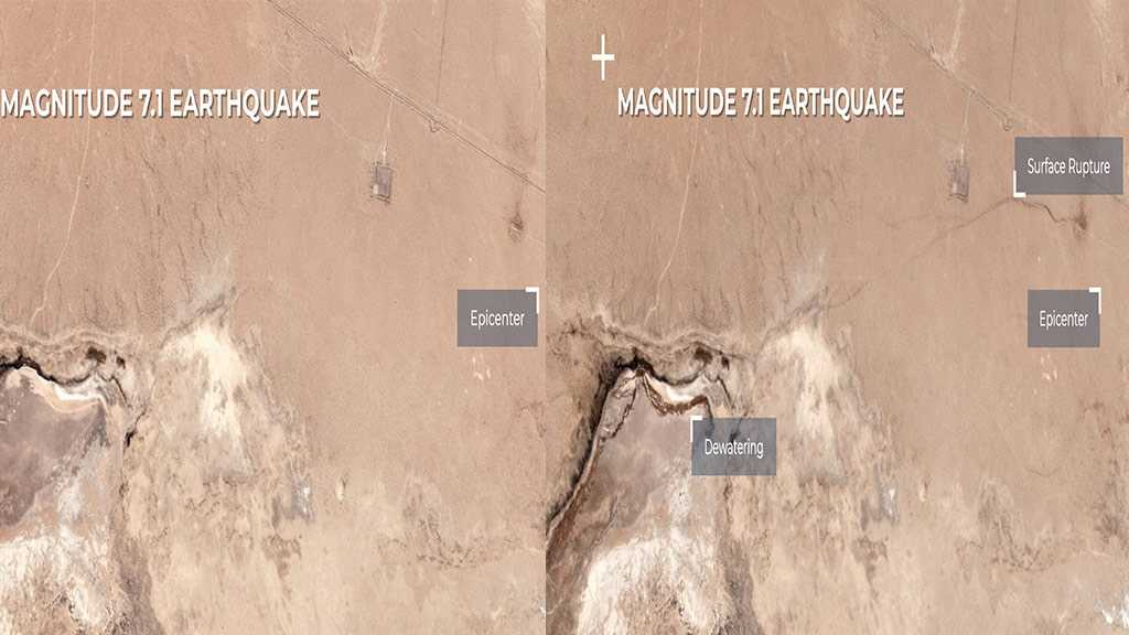 Satellite Image Reveals Large Fissure Caused by Powerful California Earthquake