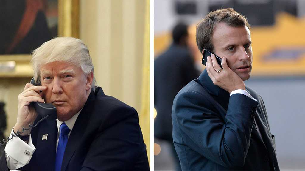 Trump, Macron Hold Phone Talks on Iran