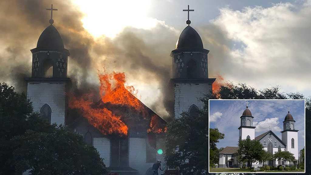 Fire Destroys Historic Church in Central Texas