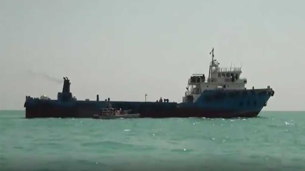 Footage Shows IRGC Seizes Tanker Smuggling Fuel in the Gulf