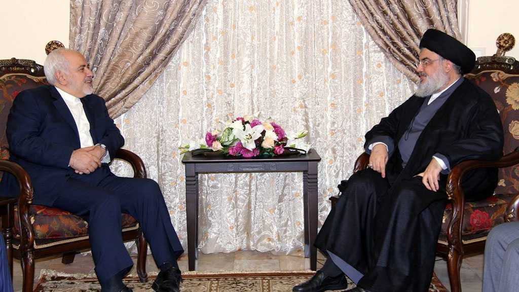 Sayyed Nasrallah Voices Solidarity with Zarif: They Wanted to Suppress You, But You Became Stronger