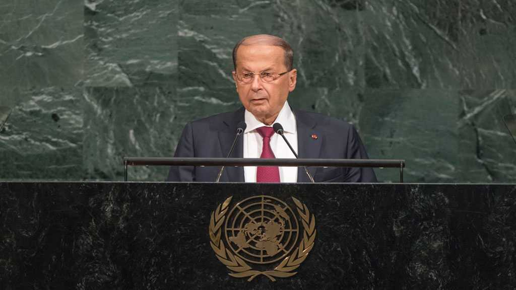 Lebanese President Aoun Urges World Leaders to Work for Syrian Refugees Return