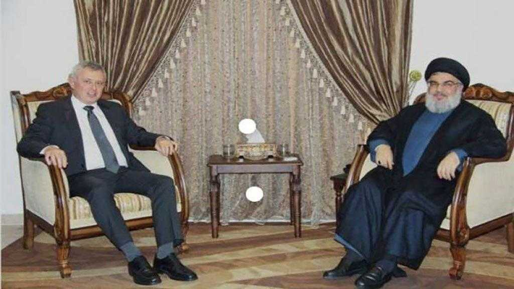 Sayyed Nasrallah Receives Franjieh, Discusses with Him Lebanon-Syria Ties, Financial Stability