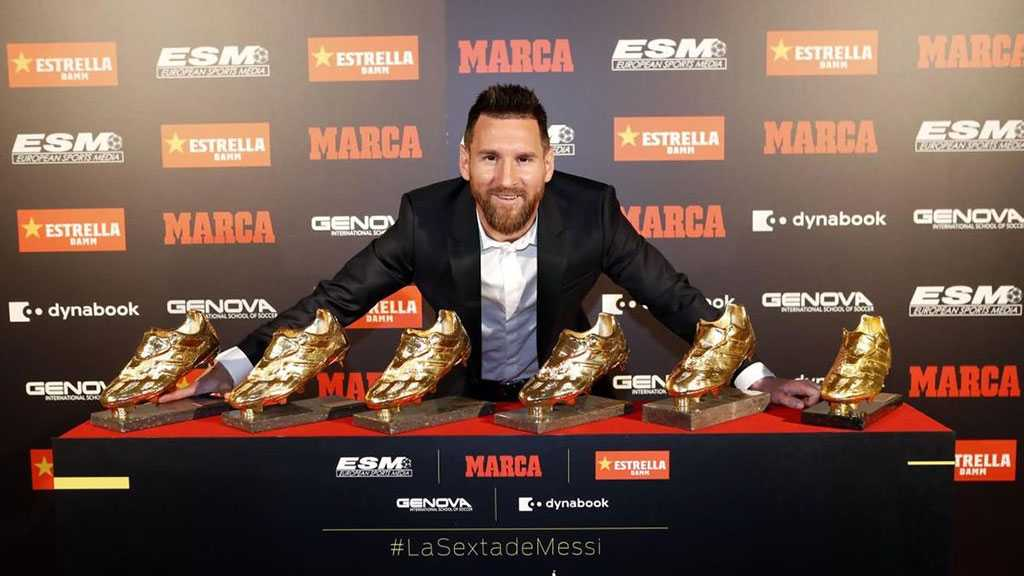 Messi Receives Record 6th European Golden Shoe