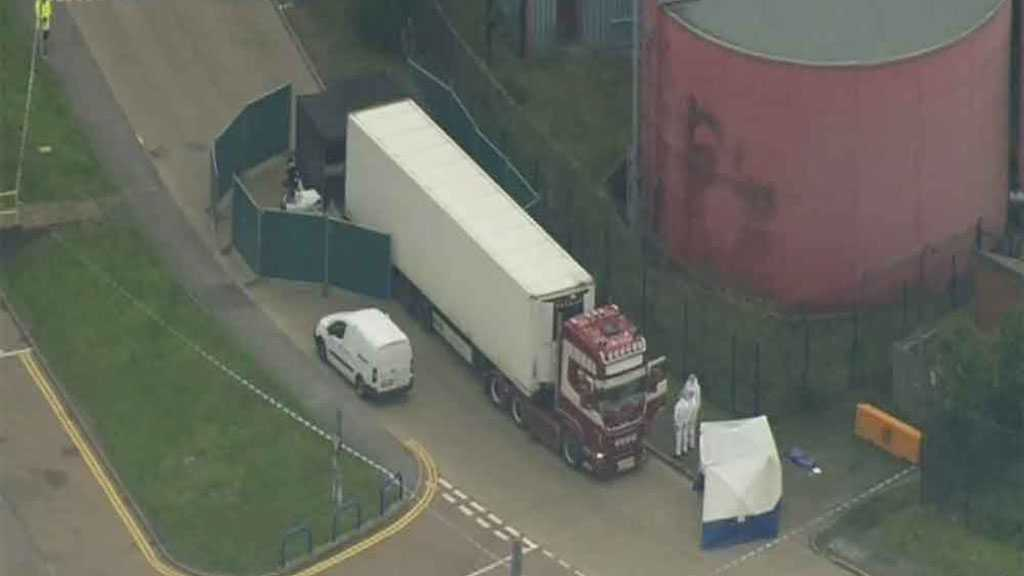 UK Police Finds 39 Bodies in Truck Container