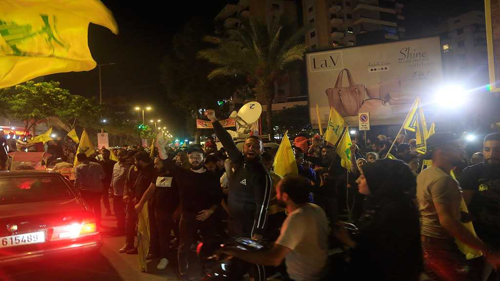 Hezbollah Supporters Take to the Streets in Support of Sayyed Nasrallah's Speech