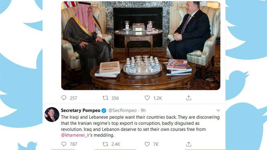 Pompeo Blatantly Meddling in Iraq, Lebanon Affairs