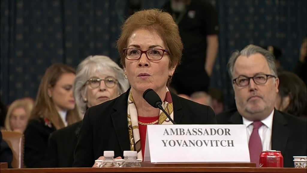 Trump Blasts Former Ambassador to Ukraine As She Testifies, Prompting Intimidation Warning