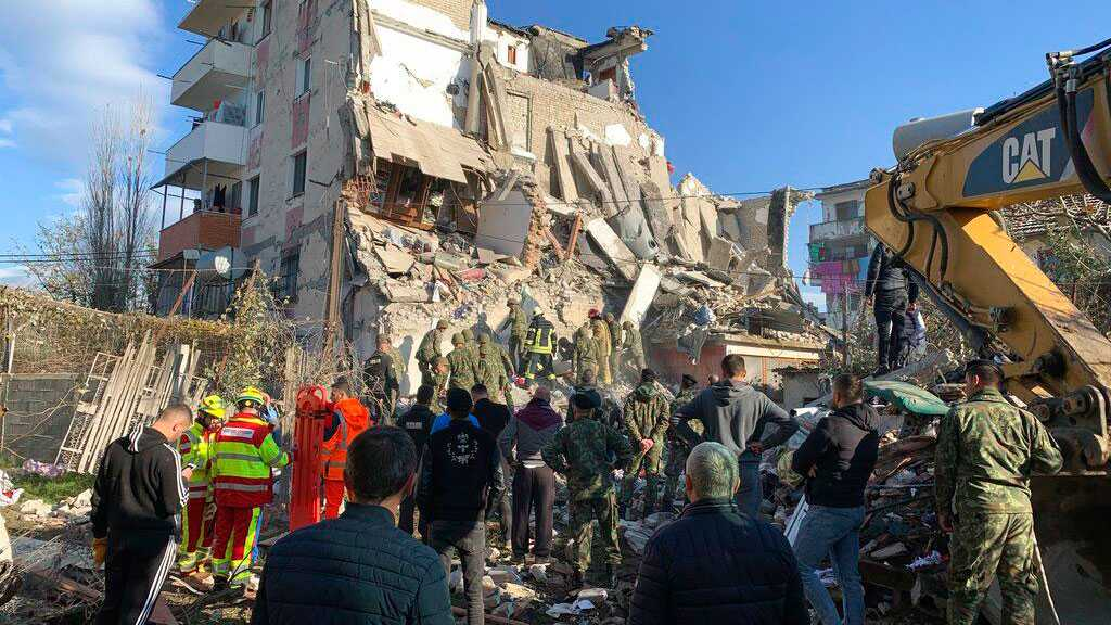 Rescuers Use Drones, Dogs to Search for Albanian Quake Victims