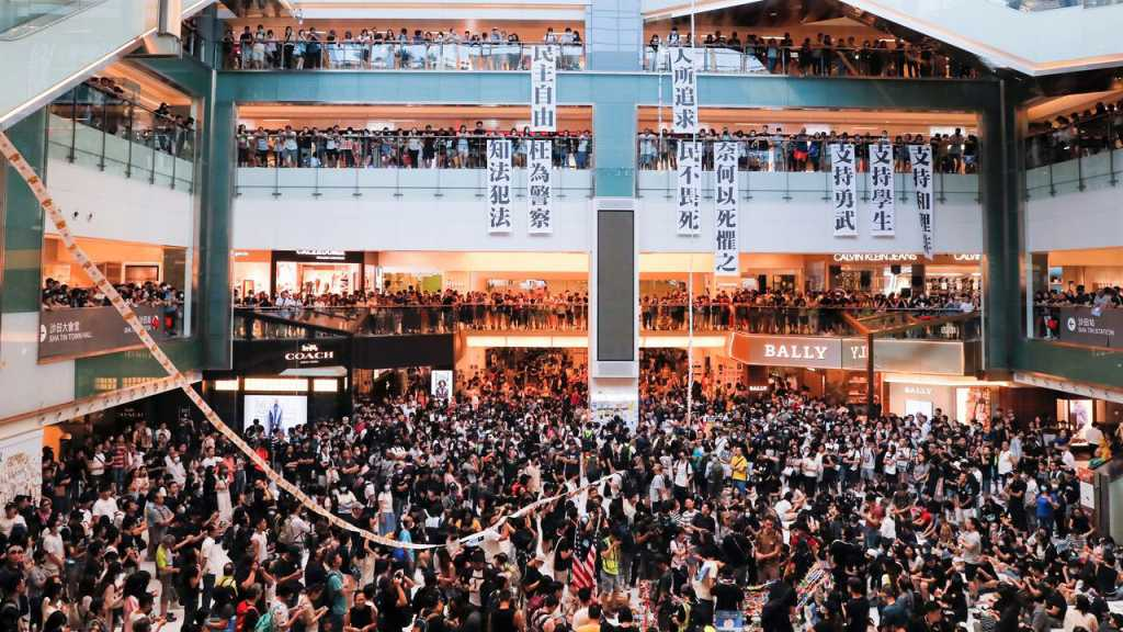 Hong Kong Protests: Demonstrators Face Off With Police inside Malls