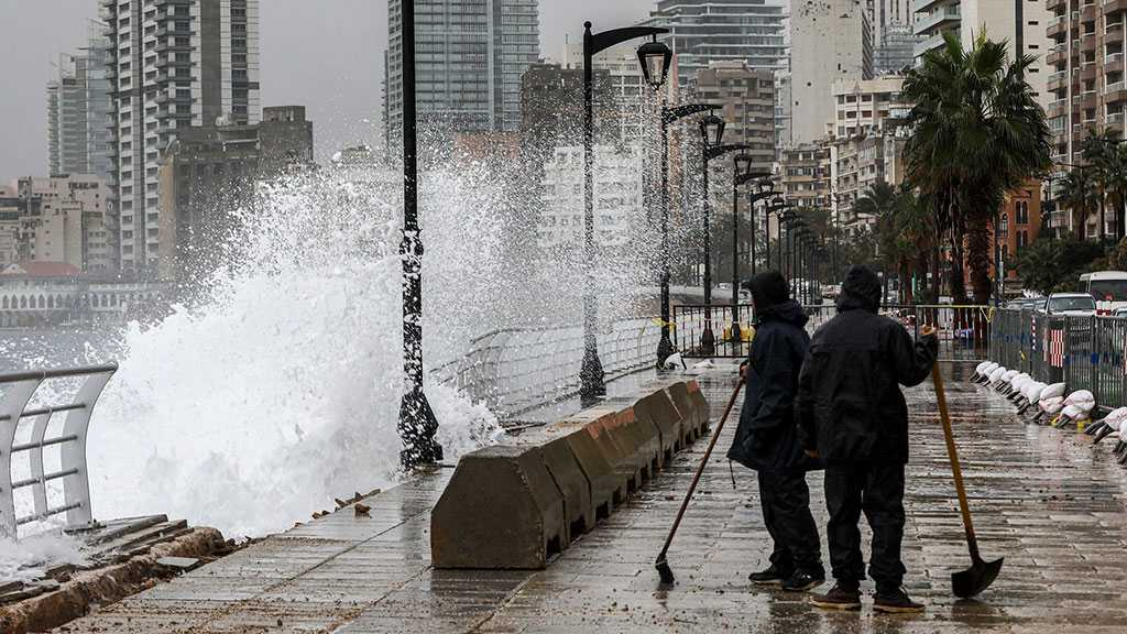 Storm Loulou Causes Roads to Flood in Lebanon