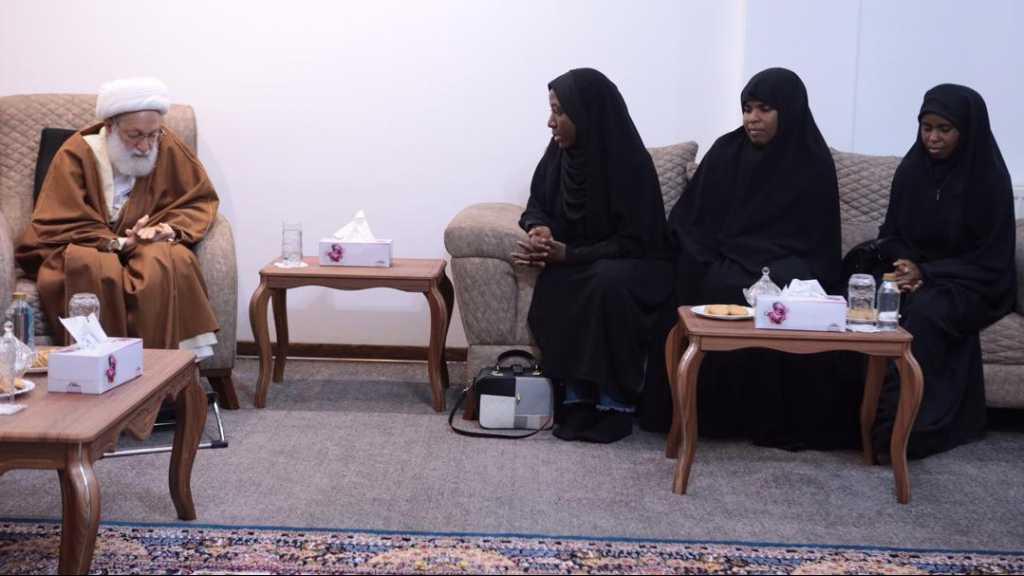 Ayatollah Isa Qassim Receives Sheikh Zakzaky's Family: He is A School of Sacrifice