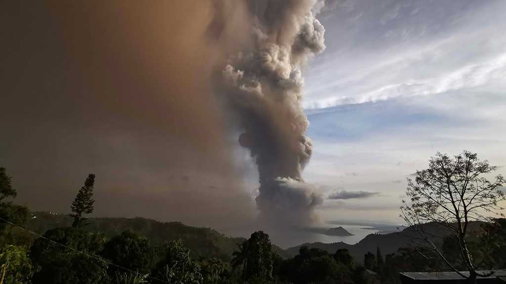 Taal Volcano Spews Lava, Ash in Philippines