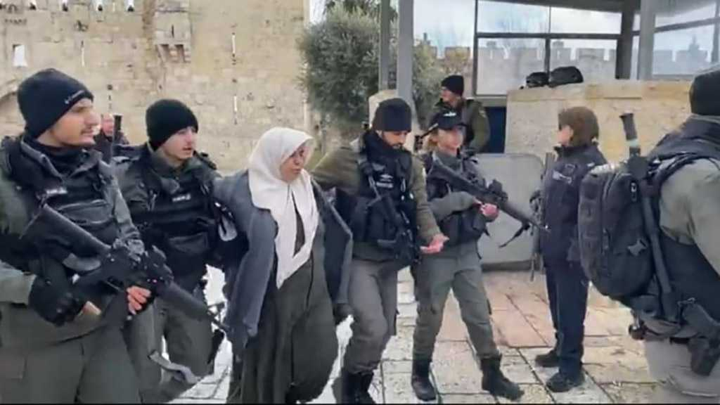 Palestinian Lady, in Her 50s, Sets 'Israeli' Soldiers on Alert