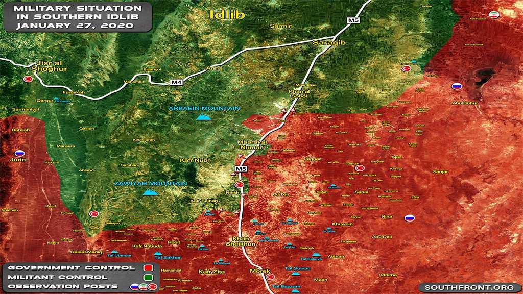 Syrian Army Restores Most of Strategic City of Ma'arrat Al-Nu'man