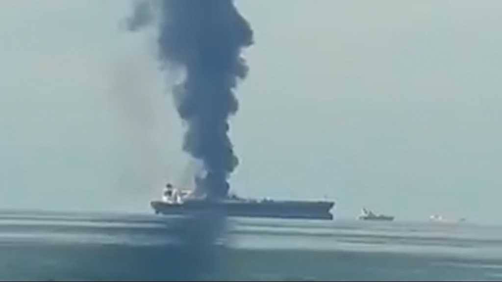 Reports Say Oil Tanker Catches Fire off Sharjah Coast