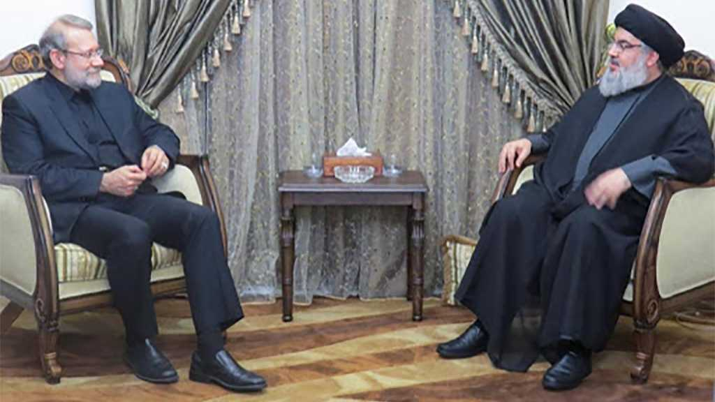 Sayyed Nasrallah Receives Larijani, Discusses with Him Latest Regional Developments