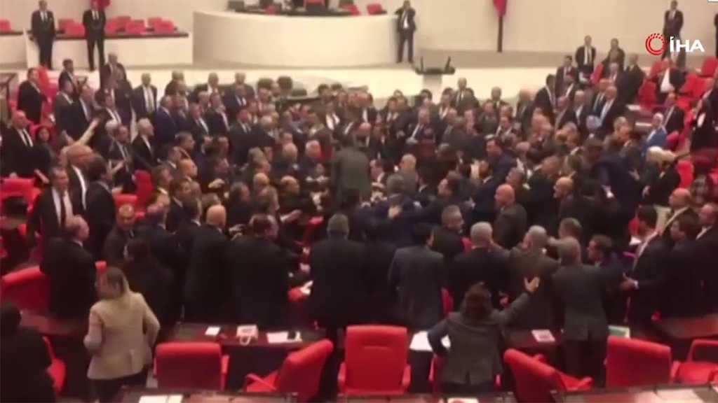 MPs Clash inside Turkish Parliament over Syria Military Action