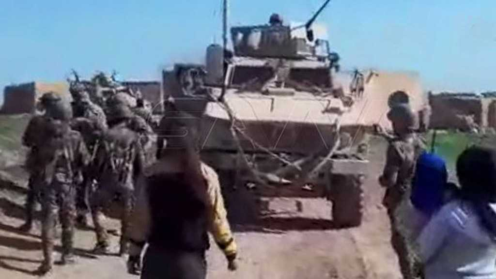 Syrian Army, Villagers of Hamo Block US Occupation Convoy for 3rd Time near Qamishli