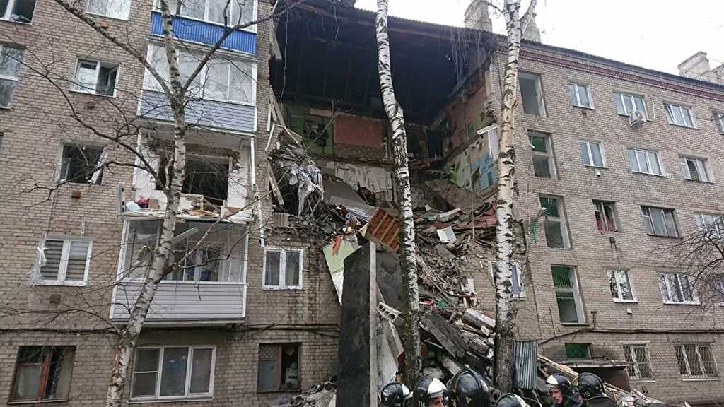 Section of Apartment Building Collapses Due to Gas Explosion in Moscow Region