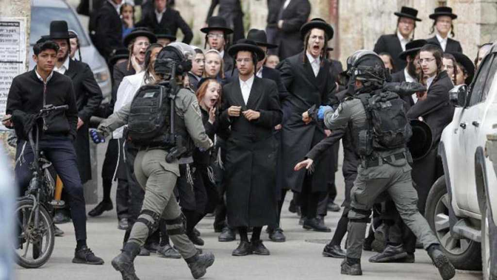 Ultra-Orthodox Settlers Clash with 'Israeli' Police over COVID-19 Restrictions