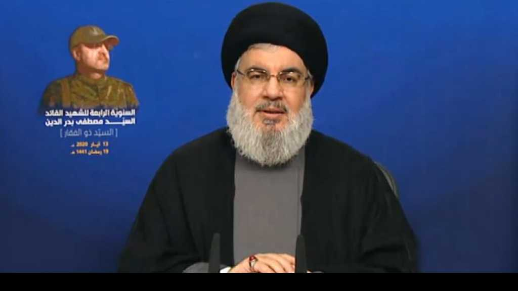 "Sayyed Nasrallah Warns of ""Israel's"" Miscalculations: Syria Triumphed on War against it, Restoring Lebanon's Tie"