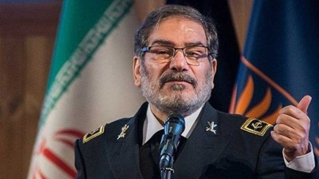 Iran's Shamkhani Slams US Rulers as 'Source of Threat'