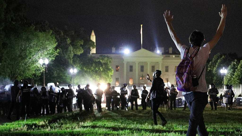 Trump Says Protesters Would Meet 'Vicious Dogs' If White House Fence Breached!