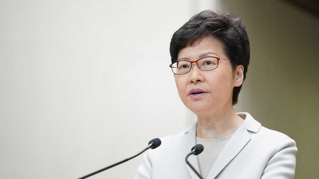 Hong Kong Leader Accuses US of Double Standards over Protests