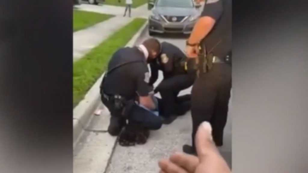Video Captures Police Officer in Florida Kneeling on A Black Man's Neck During an Arrest