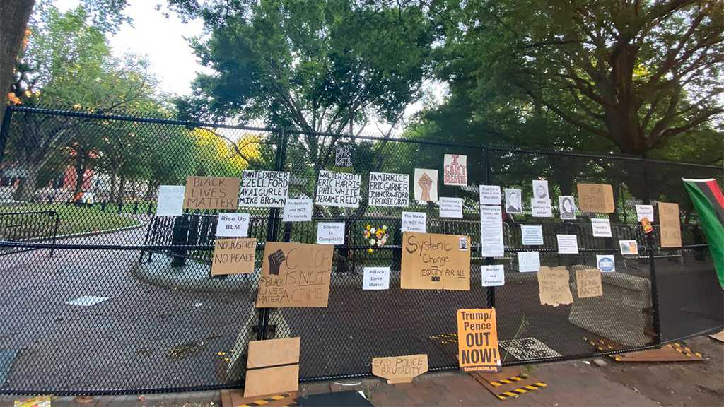 US Protests: White House Fences Turned Into Memorial Wall
