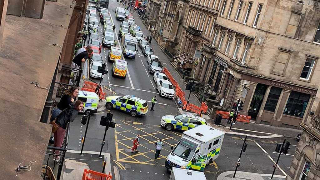 Heavy Police Presence in Central Glasgow amid Reported Stabbing Attack