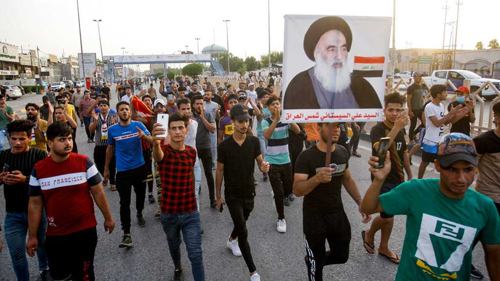 Iraqis Rally to Decry Saudi Paper's Offensive Cartoon of Ayatollah Sistani