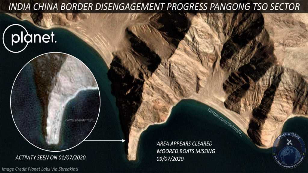 Satellite Images Appear to Show De-escalation of Indian, Chinese Troops at Pangong Tso