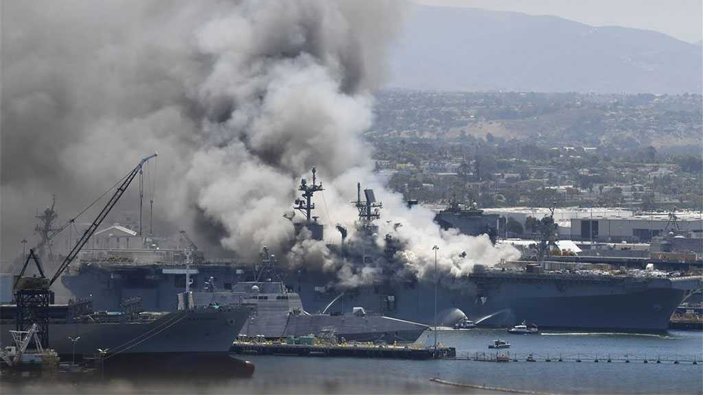 Massive Blaze, Explosion Cripple US Military Ship in San Diego, 21 Injured
