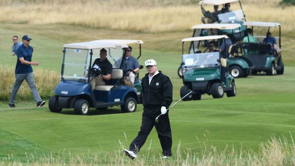 Trump Defends Playing Golf over the Weekend