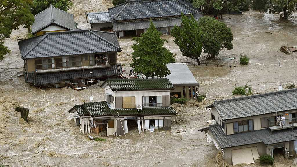 Nearly 15k Houses Suffer Damages from Floods, Landslides in Japan