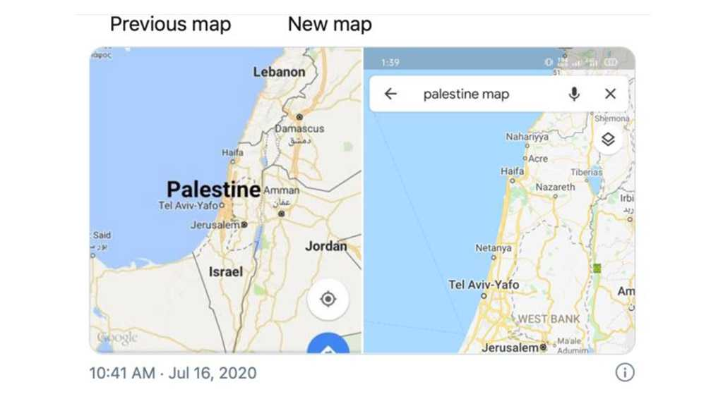 Google & Apple Remove Palestine from World Maps, Netizens Outraged