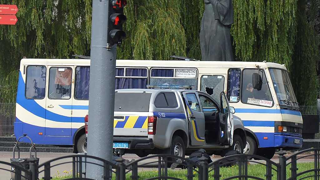 Armed Man Seizes Bus With Around 20 Hostages in Northwestern Ukraine