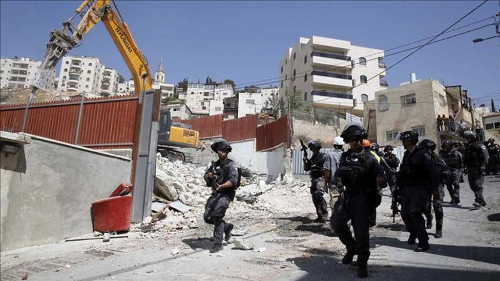'Israeli' Army Demolishes 8 Palestinian Homes East Ramallah