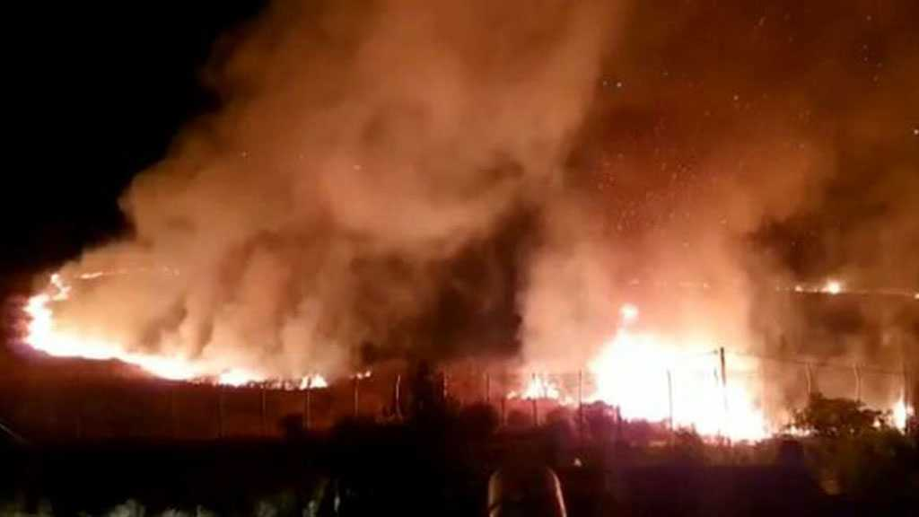 'Israel' Commits Arson Attack in Syria's Liberated Area East of Majdal Shams, Quneitra Countryside
