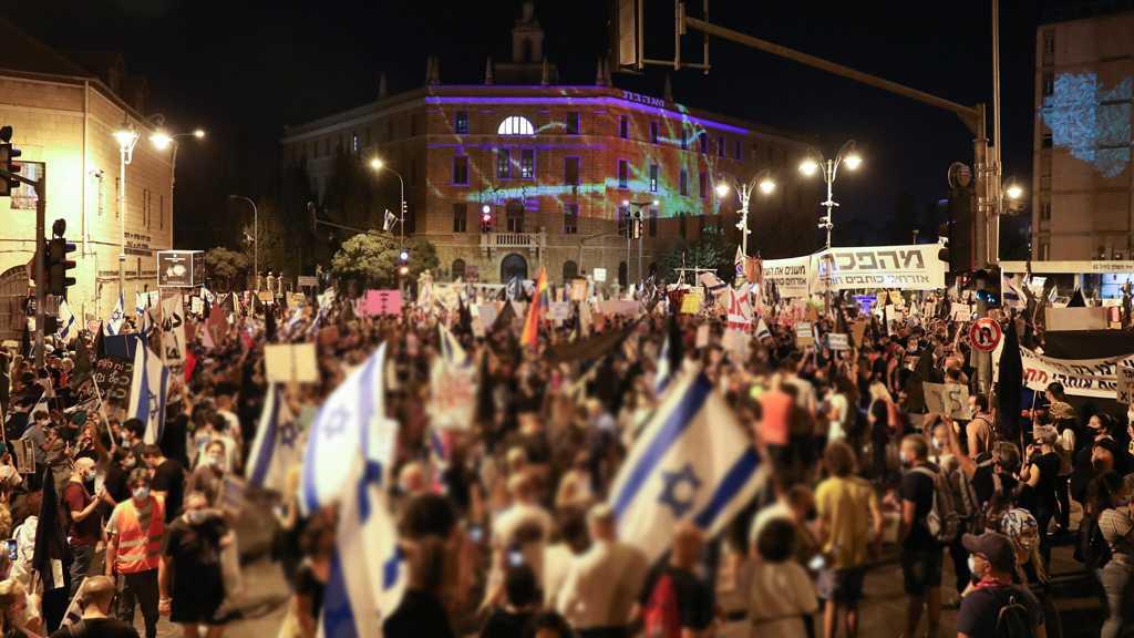 Anti-Netanyahu Rallies Engulf 'Israeli'-occupied Cities