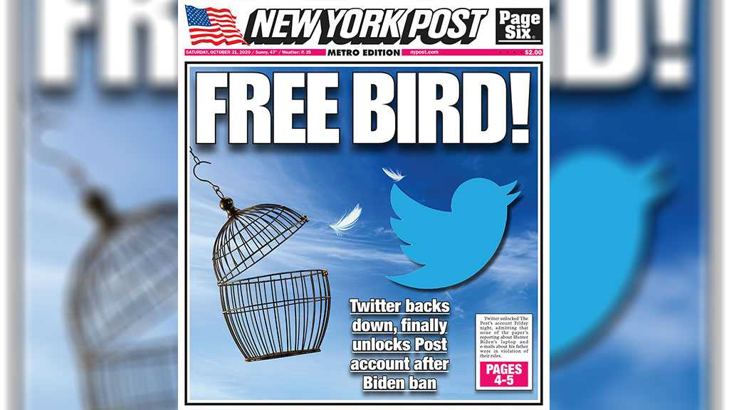 Twitter Unfreezes NY Post Account, Updates Policy Following Controversial Biden Article