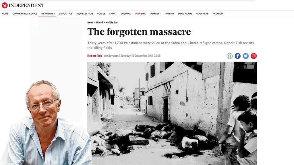 "In Memory of Robert Fisk: ""The Forgotten Massacre"" – Reposted"